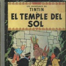 Cómics: TINTIN: EL TEMPLE DEL SOL, 1964, PRIMERA EDICIÓN, EN CATALAN. Lote 243573200