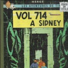 Cómics: TINTIN, VOL 714 A SIDNEY, 1969, PRIMERA EDICIÓN, JUVENTUD, EN CATALAN. Lote 243575790
