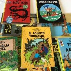 Cómics: LOTE DE LIBROS DE TINTÍN. Lote 243804155