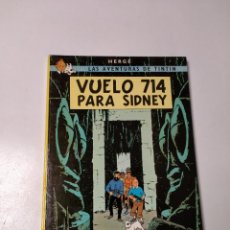 Cómics: TINTÍN VUELO 714 PARA SIDNEY TAPA DURA EDITORIAL JUVENTUD 1988 EDICIÓN 10. Lote 244575855