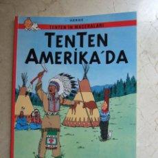 Cómics: TENTEN AMERIKA'DA - TINTIN EN AMERICA EN TURCO - CASTERMAN 2003 - TAPAS BLANDAS. Lote 244677115