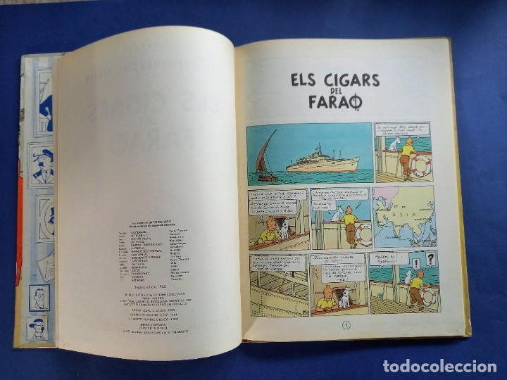 Cómics: TINTIN - ELS CIGARS DEL FARAO - 2ª - SEGONA EDICIO - 1965 - JUVENTUD -BUEN ESTADO - Foto 2 - 244792795