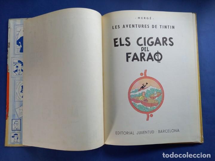 Cómics: TINTIN - ELS CIGARS DEL FARAO - 2ª - SEGONA EDICIO - 1965 - JUVENTUD -BUEN ESTADO - Foto 3 - 244792795