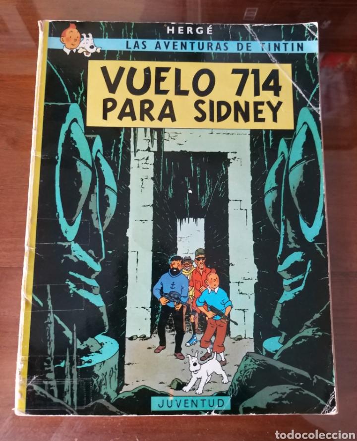 LAS AVENTURAS DE TINTÍN. VUELO 714 PARA SIDNEY. SEXTA EDICIÓN. 1982. EDITORIAL JUVENTUD. (Tebeos y Comics - Juventud - Tintín)