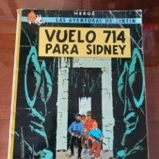Cómics: LAS AVENTURAS DE TINTÍN. VUELO 714 PARA SIDNEY. SEXTA EDICIÓN. 1982. EDITORIAL JUVENTUD.. Lote 245281045