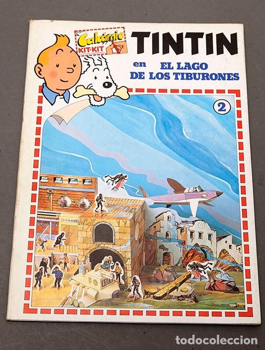 TINTIN - CALCOMIC - LAGO DE LOS TIBURNES (Tebeos y Comics - Juventud - Tintín)