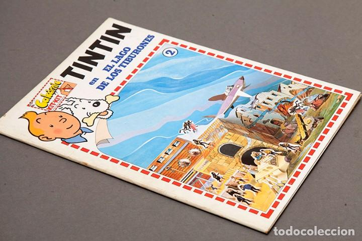 Cómics: TINTIN - CALCOMIC - LAGO DE LOS TIBURNES - Foto 2 - 245385565