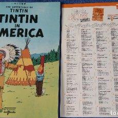 Cómics: TINTIN IN AMÉRICA - THE ADVENTURES OF TINTIN Nº 21 - EDICIONES DEL PRADO (1984). Lote 246355795
