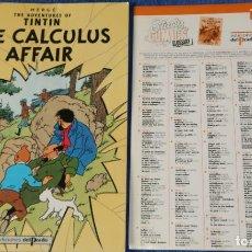 Cómics: THE CALCULUS AFFAIR - THE ADVENTURES OF TINTIN Nº 14 - EDICIONES DEL PRADO (1984). Lote 246356275