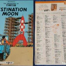 Cómics: DESTINATION MOON - THE ADVENTURES OF TINTIN Nº 12 - EDICIONES DEL PRADO (1984). Lote 246356400