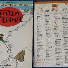 Cómics: TINTIN IN TIBET - THE ADVENTURES OF TINTIN Nº 10 - EDICIONES DEL PRADO (1984). Lote 246356510