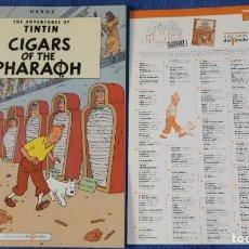 Cómics: CIGARS OF THE PHARAOH - THE ADVENTURES OF TINTIN Nº 08 - EDICIONES DEL PRADO (1984). Lote 246356585