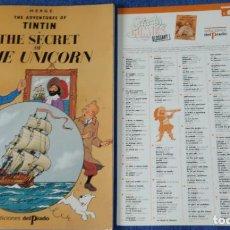 Cómics: THE SECRET OF THE UNICORN - THE ADVENTURES OF TINTIN Nº 06 - EDICIONES DEL PRADO (1984). Lote 246356715