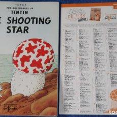 Cómics: THE SHOOTING STAR - THE ADVENTURES OF TINTIN Nº 05 - EDICIONES DEL PRADO (1984). Lote 246356780