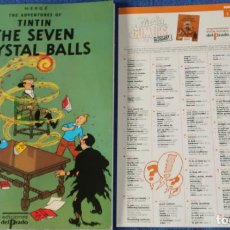 Cómics: THE SEVEN CRYSTAL BALLS - THE ADVENTURES OF TINTIN Nº 01 - EDICIONES DEL PRADO (1984). Lote 246356975