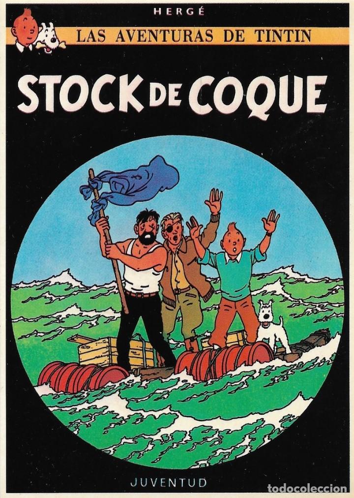 """LAMINA EDITORIAL JUVENTUD """"TINTIN STOCK DE COQUE"""" (Tebeos y Comics - Juventud - Tintín)"""