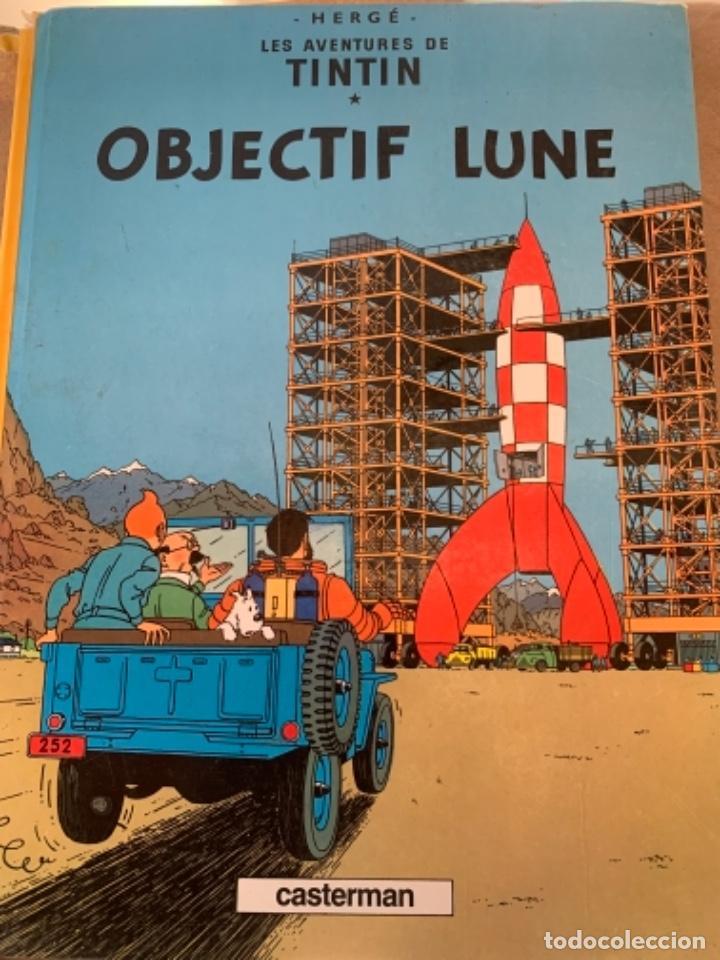 LES AVENTURES DE TINTÍN, OBJECTIF LUNE, IMPRIMÉ 1981 (Tebeos y Comics - Juventud - Tintín)