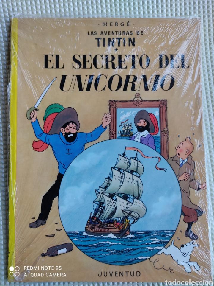 TINTIN EL SECRETO DEL UNICORNIO, EDITORIAL JUVENTUD TAPA BLANDA PLASTIFICADO (Tebeos y Comics - Juventud - Tintín)