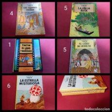 Cómics: LOTE DE 5 TINTIN -CARTONE -EN BUEN ESTADO- NUMERADOS CON LA EDICION CORRESPONDIENTE-. Lote 253781875