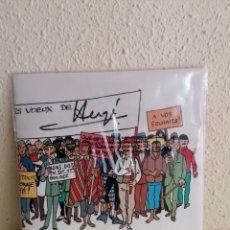 Comics : PÓSTER TIPO FRISO TINTIN CON EL MENSAJE DE FELICITACIÓN DEL AÑO 1972. Lote 254760760