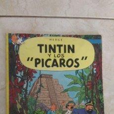 Comics: PRIMERA EDICIÓN 1976 TINTIN Y LOS PICAROS. Lote 260021955