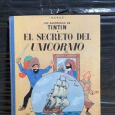 Cómics: HERGE AVENTURAS DE TINTIN EL SECRETO DEL UNICORNIO SEGUNDA EDICION 1964 ESPAÑA JUVENTUD BARCELONA. Lote 260305030