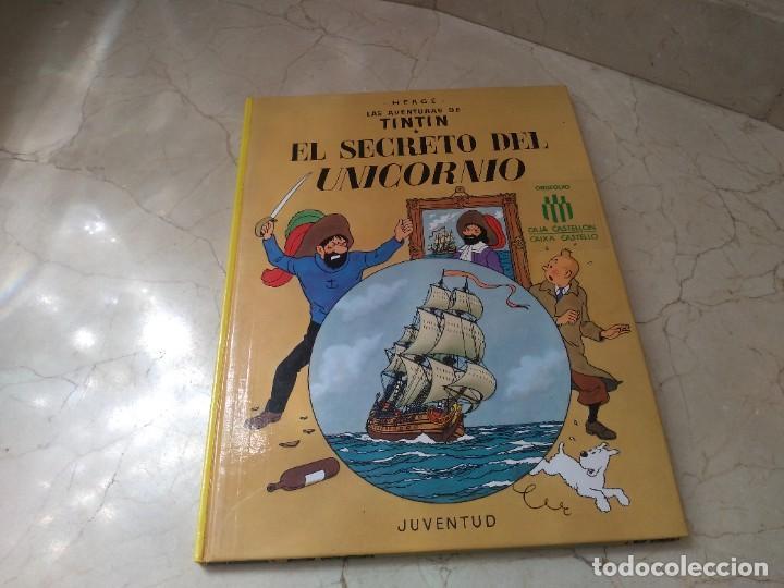 Cómics: Antiguos Tintin año 1990 Secreto del Unicornio y Rackham el Rojo. Dos en uno. Tapas duras - Foto 2 - 260362775