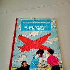 Cómics: LAS AVENTURAS DE JO, ZETTE Y JOCKO EL TESTAMENTO DE MR PUMP - HERGÉ 1ª EDICION 1970 JUVENTUD. Lote 260800275