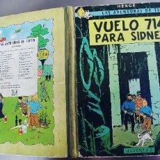 Cómics: TINTIN VUELO 714 PARA SIDNEY PRIMERA EDICION 1969. Lote 261272695