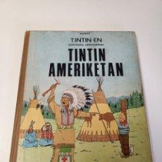 Cómics: TINTIN AMERIKETAN ETOR HERGE EUSKERA. Lote 261585010