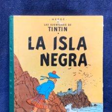 Cómics: HERGE AVENTURAS DE TINTIN ISLA NEGRA 1ª EDICION ESPAÑOLA EDITORIAL JUVENTUD MUY BUEN ESTADO 30X23.5C. Lote 262220850