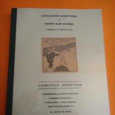 Cómics: CATALOGO SUBASTA TINTIN SCRIPTURA - 20 DICIEMBRE DE 2014 .. Lote 262357745