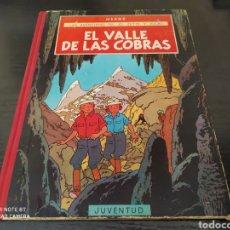 Cómics: LAS AVENTURAS DE JO, ZETTE Y JOCKO. EL VALLE DE LAS COBRAS. HERGÉ. Lote 262541115