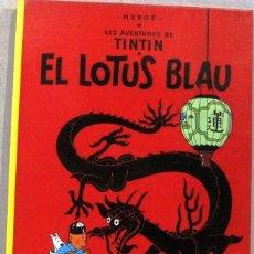 Cómics: LES AVENTURES DE TINTIN - EL LOTUS BLAU - TAPA DURA - COMIC EN CATALAN. Lote 262687355