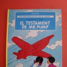 Cómics: EL TESTAMENT DE MR. PUMP LES AVENTURES DE JOU ZETTE I JOCKO 1R. EPISODI HERGÉ JOVENTUD 1ª EDI. 1989. Lote 263530805