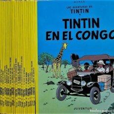 Cómics: LAS AVENTURAS DE TINTIN COLECCIÓN COMPLETA 23 ÁLBUMES RÚSTICA (TAPA BLANDA) HERGÉ. JUVENTUD.. Lote 263540585