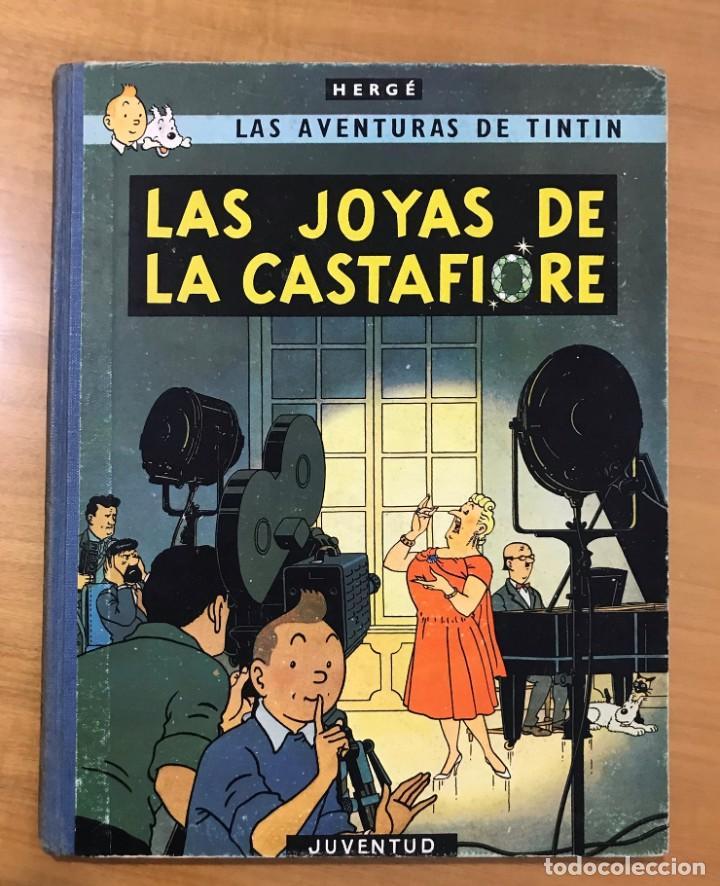 TINTIN LAS JOYAS DE LA CASTAFIORE ED. JUVENTUD 1ª EDICION DE 1964 (Tebeos y Comics - Juventud - Tintín)