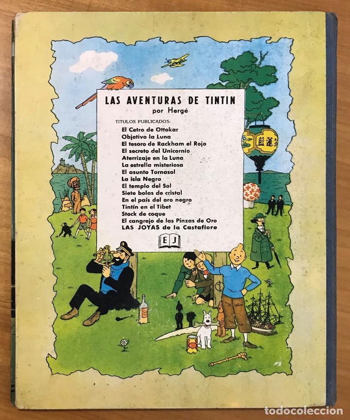 Cómics: TINTIN LAS JOYAS DE LA CASTAFIORE ED. JUVENTUD 1ª EDICION DE 1964 - Foto 2 - 265473534