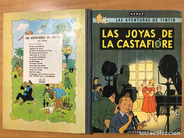 Cómics: TINTIN LAS JOYAS DE LA CASTAFIORE ED. JUVENTUD 1ª EDICION DE 1964 - Foto 3 - 265473534
