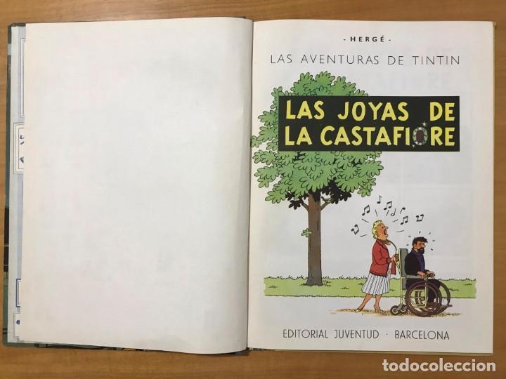 Cómics: TINTIN LAS JOYAS DE LA CASTAFIORE ED. JUVENTUD 1ª EDICION DE 1964 - Foto 5 - 265473534