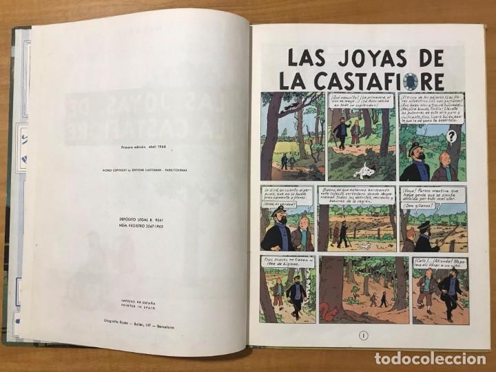 Cómics: TINTIN LAS JOYAS DE LA CASTAFIORE ED. JUVENTUD 1ª EDICION DE 1964 - Foto 6 - 265473534