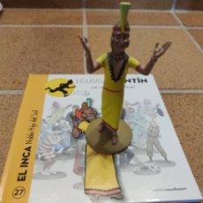 Fumetti: FIGURA DE RESINA COLECCION TINTIN - EL INCA NOBLE HIJO DEL SOL Nº 27 - 13CM MOULINSART 2014 .. Lote 266775024