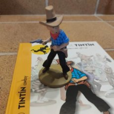 Comics: FIGURA DE RESINA COLECCION TINTIN - TINTIN COW-BOY - COWBOY Nº 30 - 13CM MOULINSART 2014 .. Lote 266776569