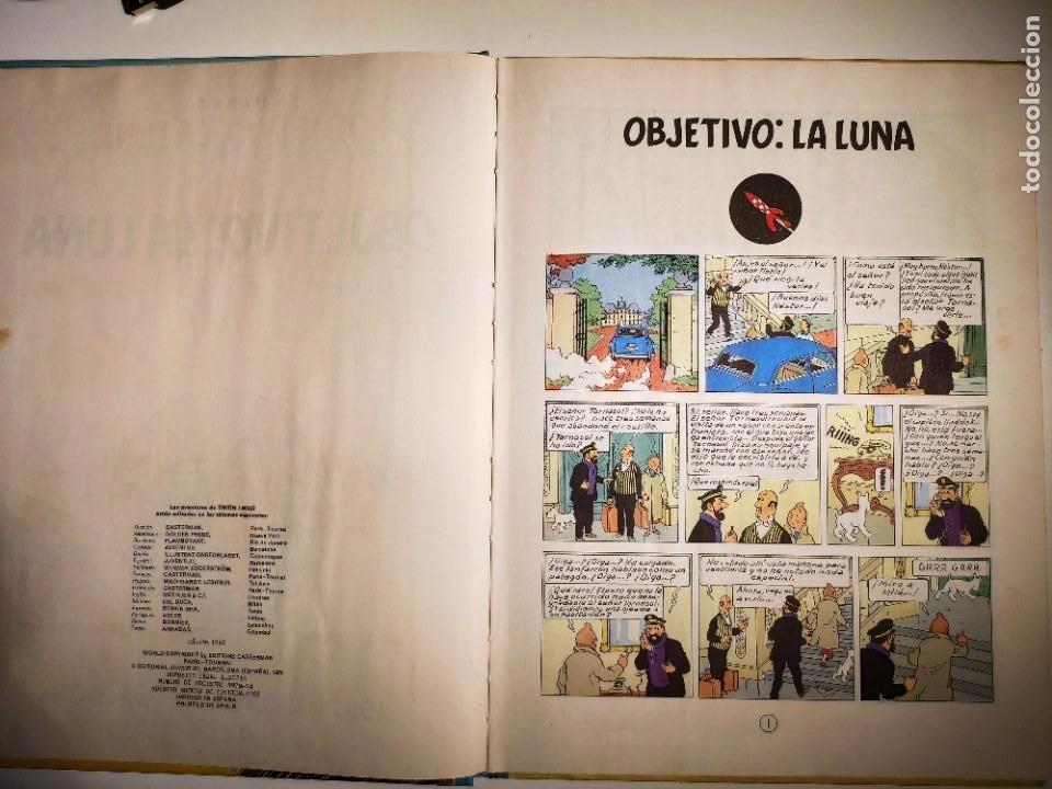 Cómics: TINTIN. OBJETIVO: LA LUNA. EDICIÓN 1965. MUY BUEN ESTADO DE CONSERVACIÓN - Foto 5 - 77578193