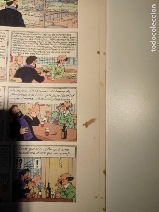 Cómics: TINTIN. OBJETIVO: LA LUNA. EDICIÓN 1965. MUY BUEN ESTADO DE CONSERVACIÓN - Foto 7 - 77578193