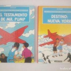 Comics: LAS AVENTURAS DE JORGE SARA Y PIPO 1 Y 2 HERGE CASTERMAN. Lote 267805824