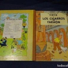 Cómics: (M) LAS AVENTURAS DE TINTIN - LOS CIGARROS DEL FARAON, EDT JUVENTUD, 3 EDC 1968, SEÑALES DE USO. Lote 267910859