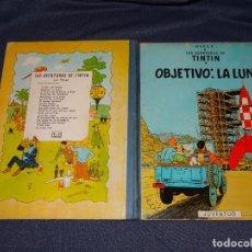 Cómics: (M) LAS AVENTURAS DE TINTIN - OBJETIVO LA LUNA ,EDT JUVENTUD,EDICION 1965, SEÑALES DE USO. Lote 267911329