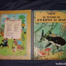 Cómics: LAS AVENTURAS DE TINTIN - EL TESORO DE RACKHAM EL ROJO, EDT JUVENTUD 1971, 4 EDC. Lote 267939624