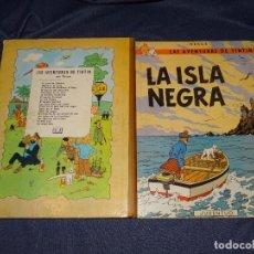 Cómics: TINTIN - LA ISLA NEGRA ,2 EDC, EDT JUVENTUD 1967 , NOMBRE DEL ANTIGUO POSEIDOR, PUNTAS CON ROTURITAS. Lote 267985779